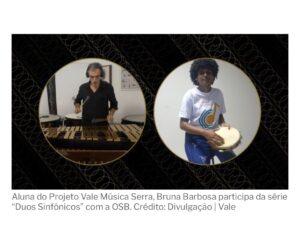 Matéria de A Gazeta sobre o Duos Sinfônicos - 30.04.2021